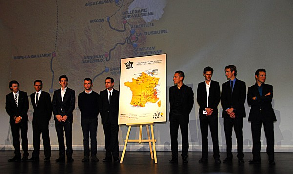 Tour de France Riders and  Route Map