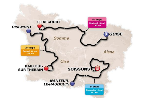 Tour of Picardie 2014 Route Map